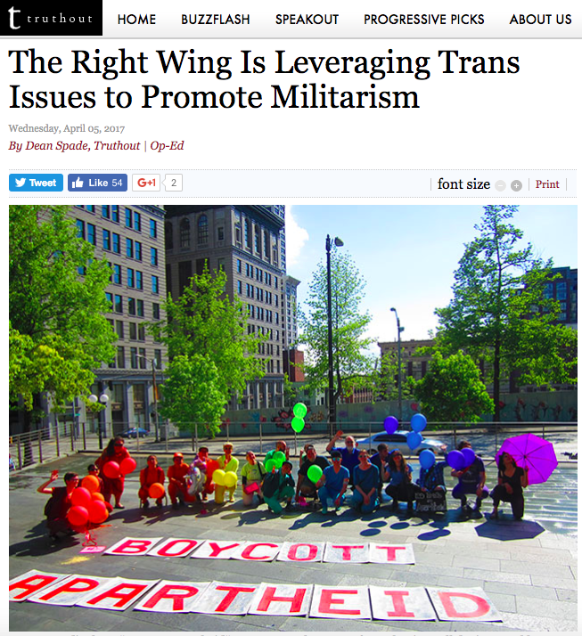 Right Leveraging Trans Issues to Promote Militarism