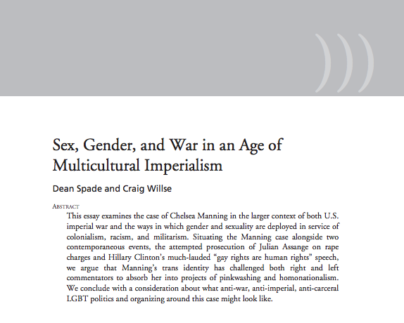 Sex, Gender, and War in an Age of Multicultural Imperialism